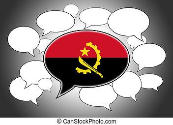 Speech bubbles concept - spoken language is Angolan