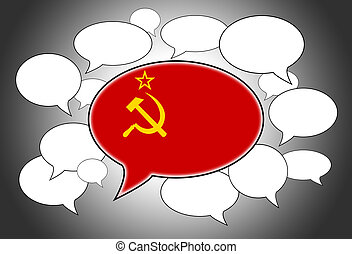 Speech bubbles concept - spoken language is that of USSR