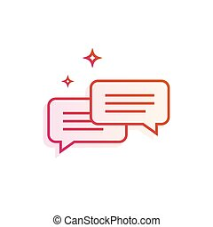 Speech bubbles Icon. Gradient line vector illustration isolated on white background.