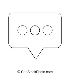 Speech bubbles icon illustration design