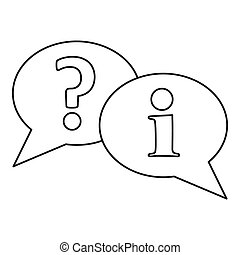 Speech bubbles icon, outline style