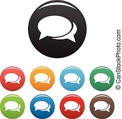 Speech bubbles icons set vector
