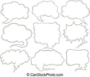 Speech bubbles in different shapes