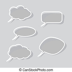 speech bubbles  isolated on gray background