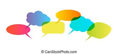 Speech bubbles isolated on white background. Vector ...
