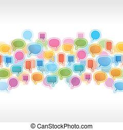 speech bubbles on white background