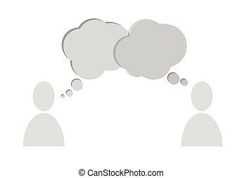speech bubbles people