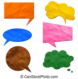 Speech Bubbles plasticine