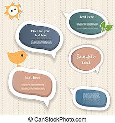 Speech bubbles & scrapbook elements