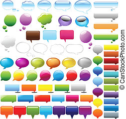 Speech Bubbles Set - Collection Speech Bubbles, Isolated On ...