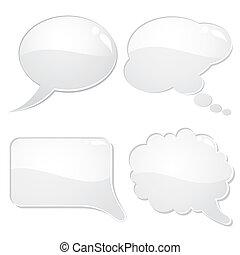 Speech Bubbles - Set of speech and thought bubbles, element...
