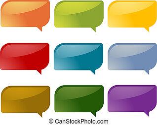Speech bubbles - Set of speech bubble icons in multiple ...