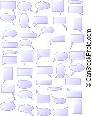 Speech bubbles - Set of speech bubbles. Available in jpeg...