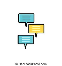 speech bubbles social media icons