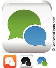 Speech bubbles, talk bubbles, speak bubbles. Vector icons. dialogue, chat, forum icons. Speech bubbles, talk bubbles, speak bubbles. Vector icons. dialogue, chat, forum icons.