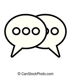 speech bubbles talk