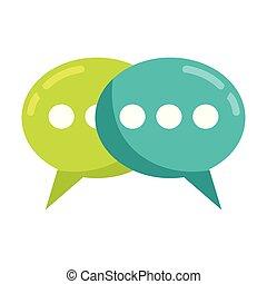 speech bubbles talk