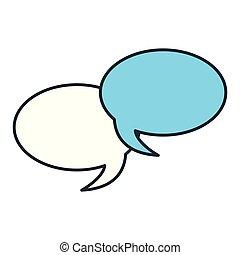 speech bubbles talk on white background