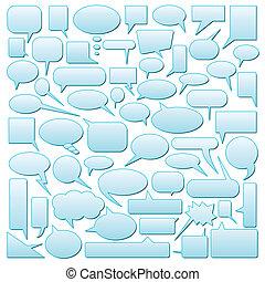 speech bubbles - vector set of speech bubbles