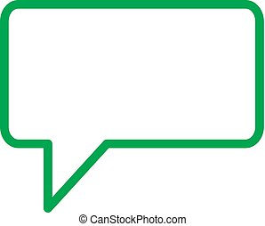 Speech bubbles vector flat icon, for web design or mobile app