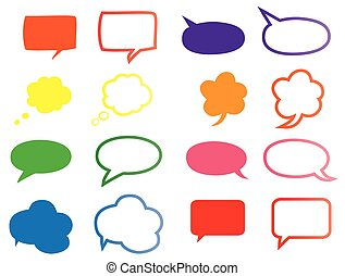 speech bubbles  - vector speech bubbles
