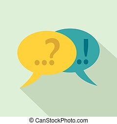Speech bubbles with question and exclamation mark