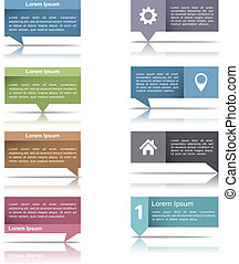 Set of speech bubbles with reflection for your text, vector eps10 illustration