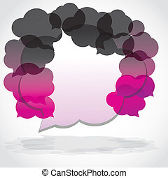 Speech cloud collection purple and