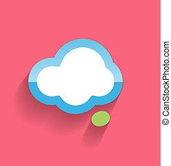 Speech cloud flat modern icon
