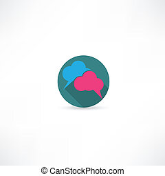 speech cloud icon