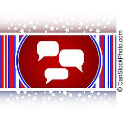 speech cloud on web icon button