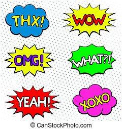 Speech cloud set - Dialogue and humour speech cloud set....