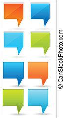 Speech Cloud Vectors - Abstract Conceptual Creative Design...