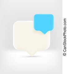 Speech cloud with copy space. Template for a text