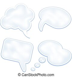 Speech clouds and bubbles - Set of speech clouds and...