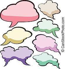 Speech color clouds.