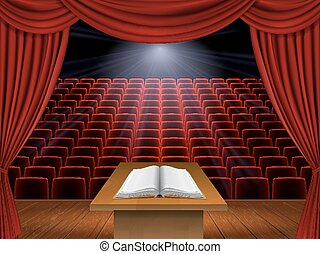 speech from the podium - open book is on the podium in the ...