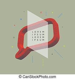 Speech icon. Design element. 3d vector illustration.
