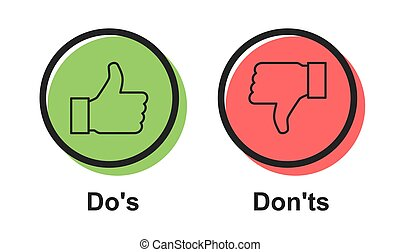 Speech icon vector bubble Dos and Don'ts or like/unlike ...