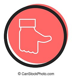 Speech icon vector bubble like donts, red color. flat simple...