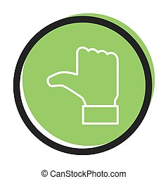 Speech icon vector bubble like dos , green color. flat ...