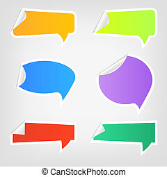 Set of different colorful web speech icons