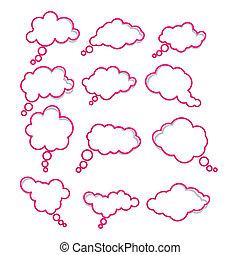 Speech notification paper frames. - Vector illustration of...
