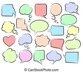 Speech phrase clouds