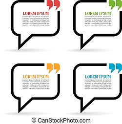 Speech bubbles with quote marks
