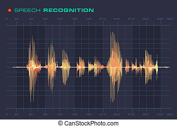 Speech Recognition Sound Wave Form Signal Diagram - Speech...
