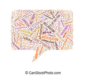 Speech Rectangle Made Up Of Text On White Background