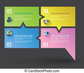 Speech relationship banner with flat icons. Can use for business concept and promotion.
