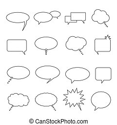 Speech, talk and thought balloons - Speech, thought and talk...