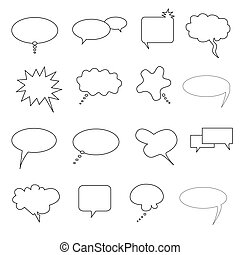 Speech, talk and thought bubbles
